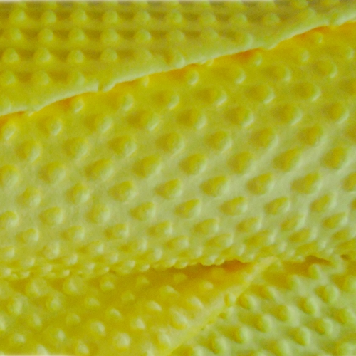 minky bąbelki kolor żółty