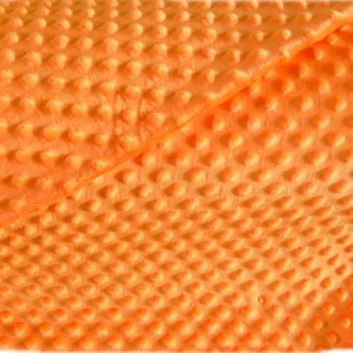minky bąbelki kolor pomarańczowy